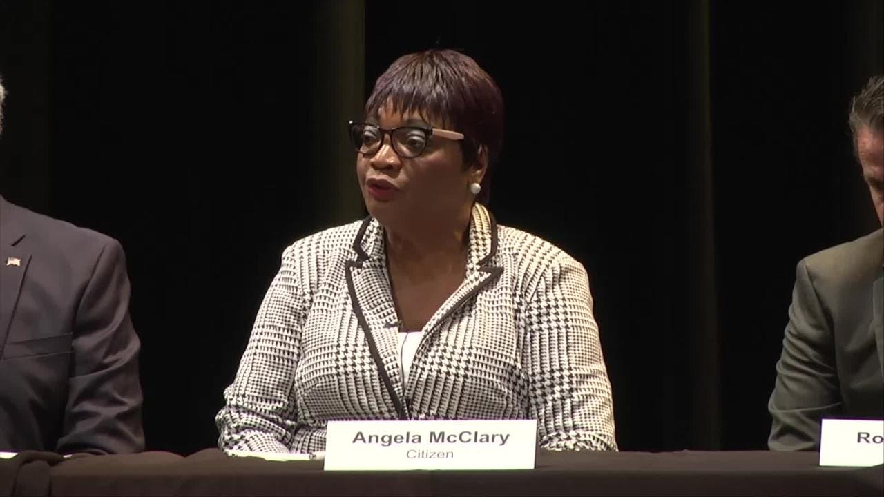Angela McClary, whose son was murdered in 2014. (Video produced by Harmon's Audio Visual)