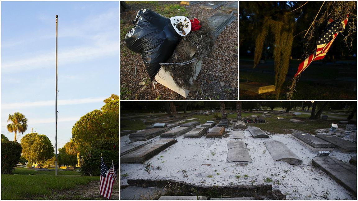 American flag doesn't fly over cemetery of forgotten veterans.