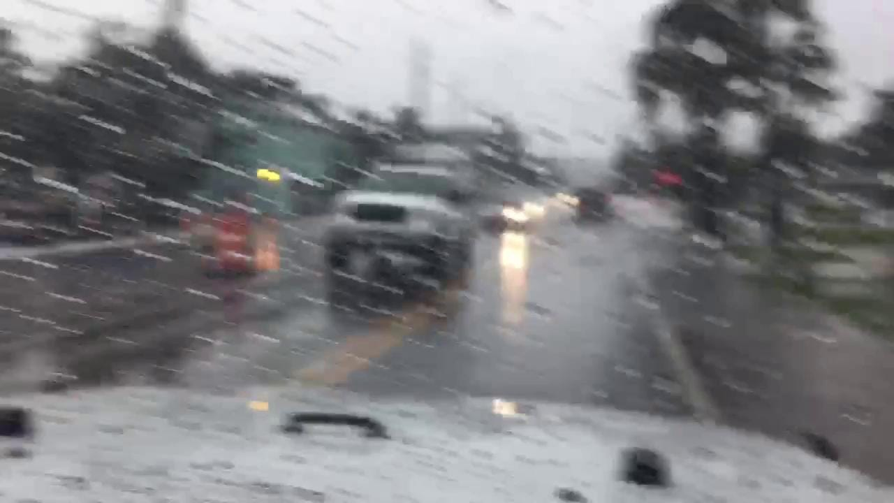 RAW VIDEO: Heavy rains flood parts of Fort Myers Beach roadways