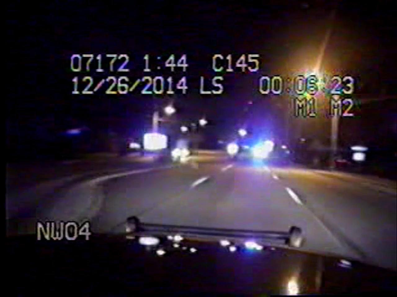 Raw video: December SC Highway Patrol chase dashcam video