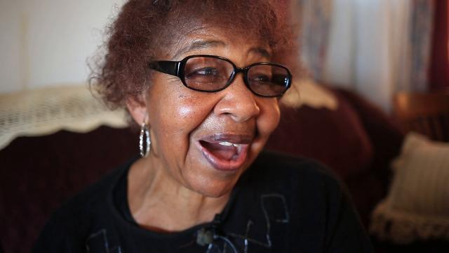 Cladys Harrison, 81, of Pendleton describes taking a seat in the front of a Greyhound bus when Jim Crow-era laws prohibited her from doing so in 1961.