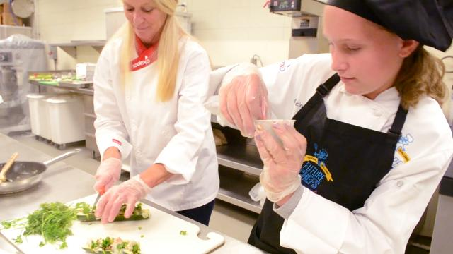 Ten Oconee County elementary school students participated in the Future Chef's competition sponsored by Sodexo, food service company, Thursday night.