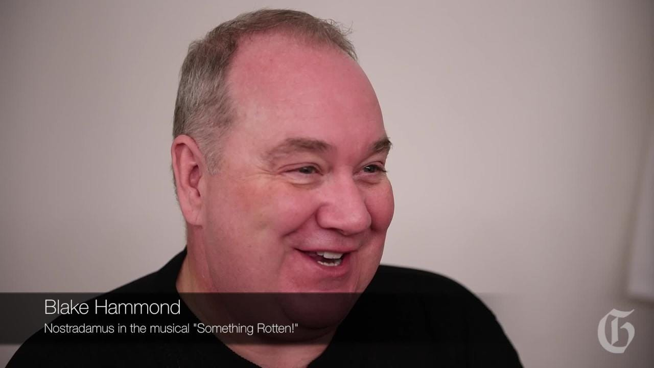 "Broadway actor Blake Hammond talks about what it's like to get into his character, Nostradamus, in the musical ""Something Rotten!"" The musical runs through Sunday at the Peace Center."