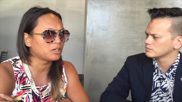 ISA Guam's Lasia Casil and James Servino