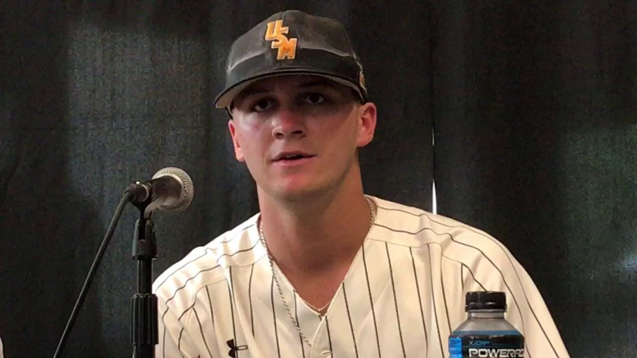 USM's Guidry on his approach at the plate Friday