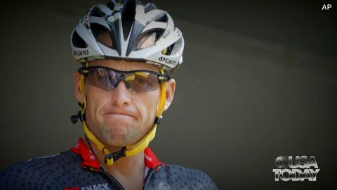 The famed cyclist said he was giving up his fight against doping charges brought by the U.S. Anti-Doping Agency.