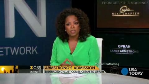 In an interview taped Monday with Oprah Winfrey, Lance Armstrong confessed to doping during a cycling career that saw him win the Tour de France seven times. Winfrey tells CBS that Armstrong seemed ready for the two-and-a-half-hour interview.
