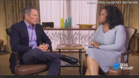 "Saying his ""mythic, perfect story"" was ""one big lie,"" Lance Armstrong admitted to Oprah that he cheated during most of his famed cycling career and that he bullied people who dared to tell the truth about it."
