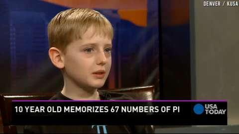 10-year-old memorizes 67 numbers of Pi
