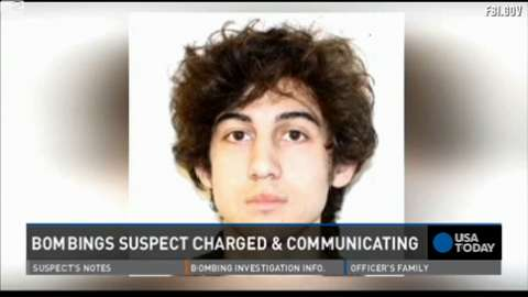 Boston bombing suspect charged from hospital bed