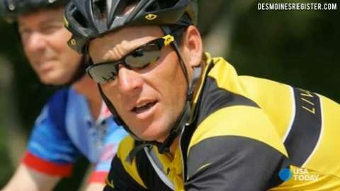 Lance Armstrong has announced that his first public cycling event since admitting to doping will be the RAGBRAI, the Des Moines Register's Great Annual Bicycle Ride Across Iowa.