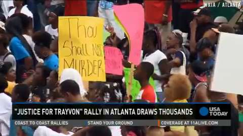'Justice for Trayvon' rally draws thousands in Atlanta