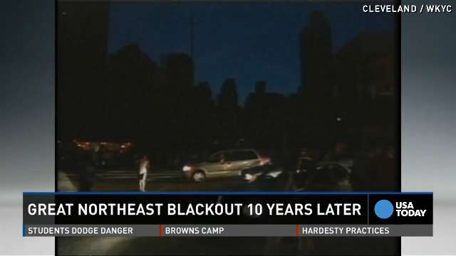 Nearing the tenth anniversary of the Great Northeast Blackout of 2003 that put 55 million people in the dark, the finger of blame points to Cleveland's First Energy.