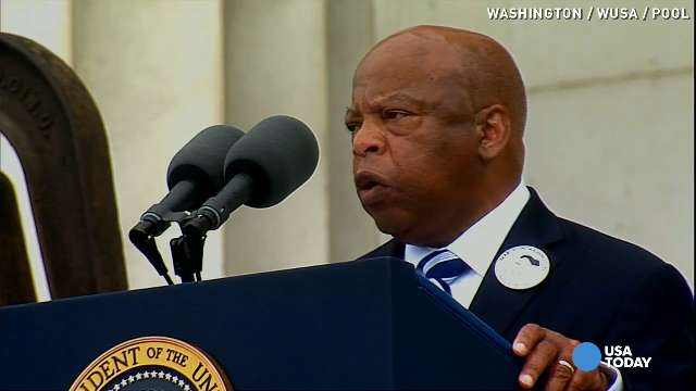 Rep. John Lewis takes stage at March for second time
