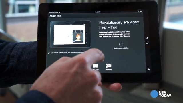 Hands on with the Kindle Fire HDX Mayday feature