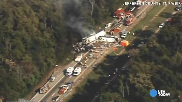 I-40 bus crash: All evidence will be sent to D A