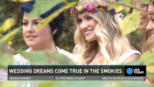 Dream wedding in Smokies comes true after shutdown