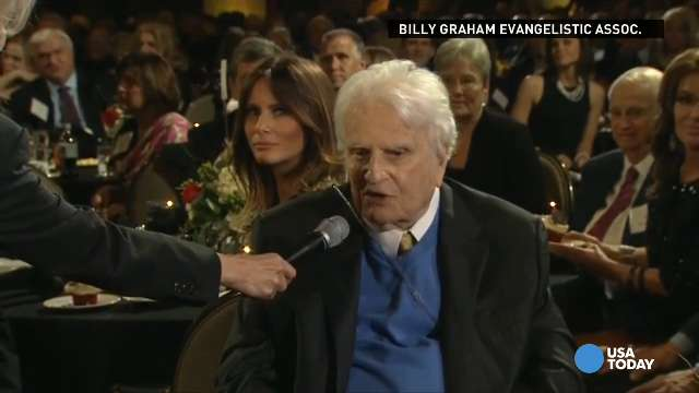 Billy Graham thanks special friend at birthday party