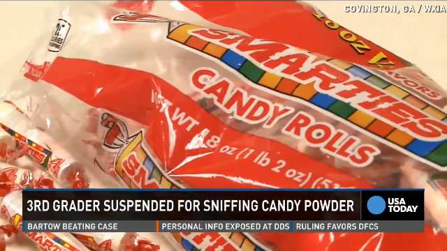 3rd grader suspended for sniffing Smarties