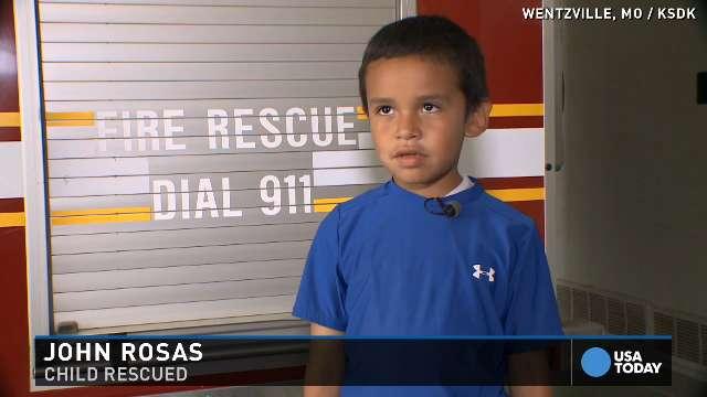 Firemen rescue boy then make his day
