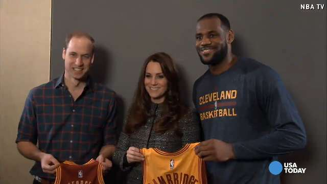 Video: See LeBron give Will and Kate adorable gift for George