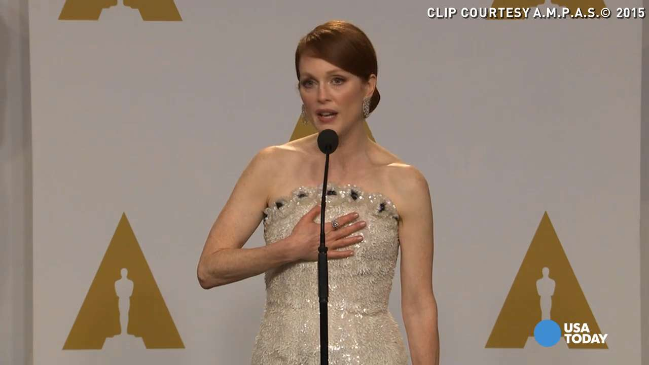 Julianne Moore won the Oscar for Best Actress for her role in 'Still Alice.' She divulged a secret to media afterwards, saying her husband actually predicted her big win when he first saw the movie.