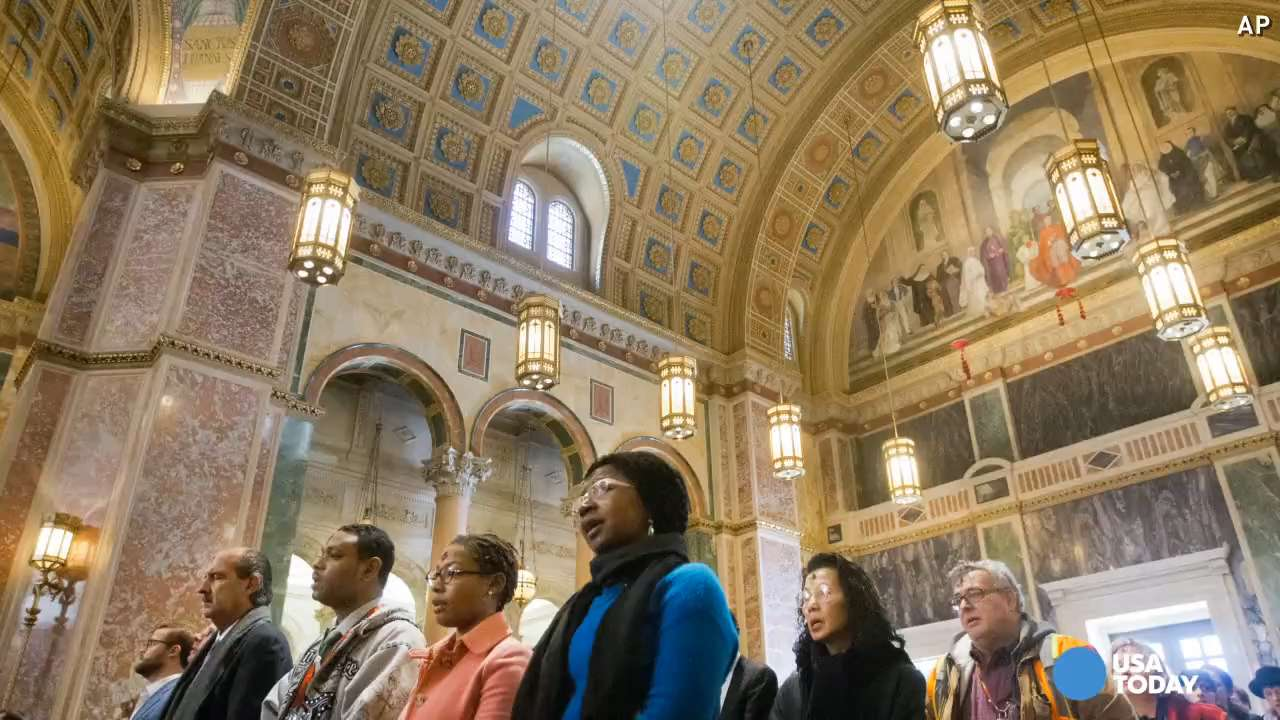 Pope visiting historic Catholic church in D C