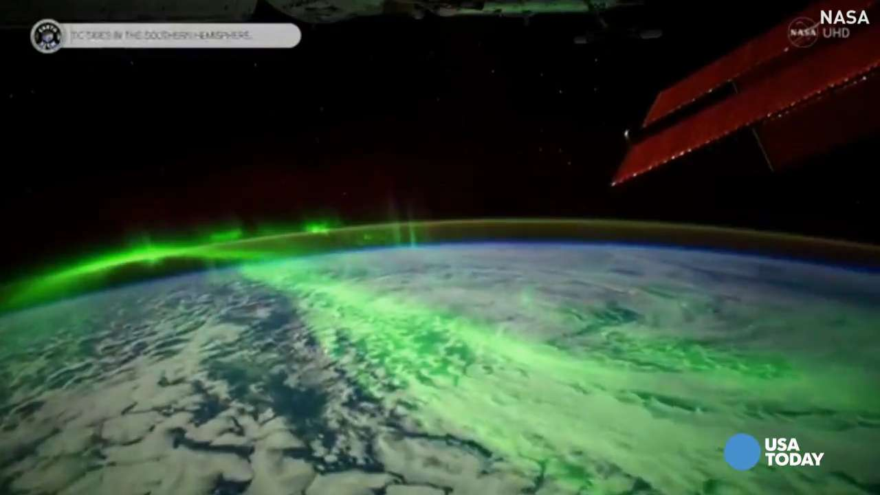 NASA released a stunning ultra-high-definition video of the aurora borealis in space.