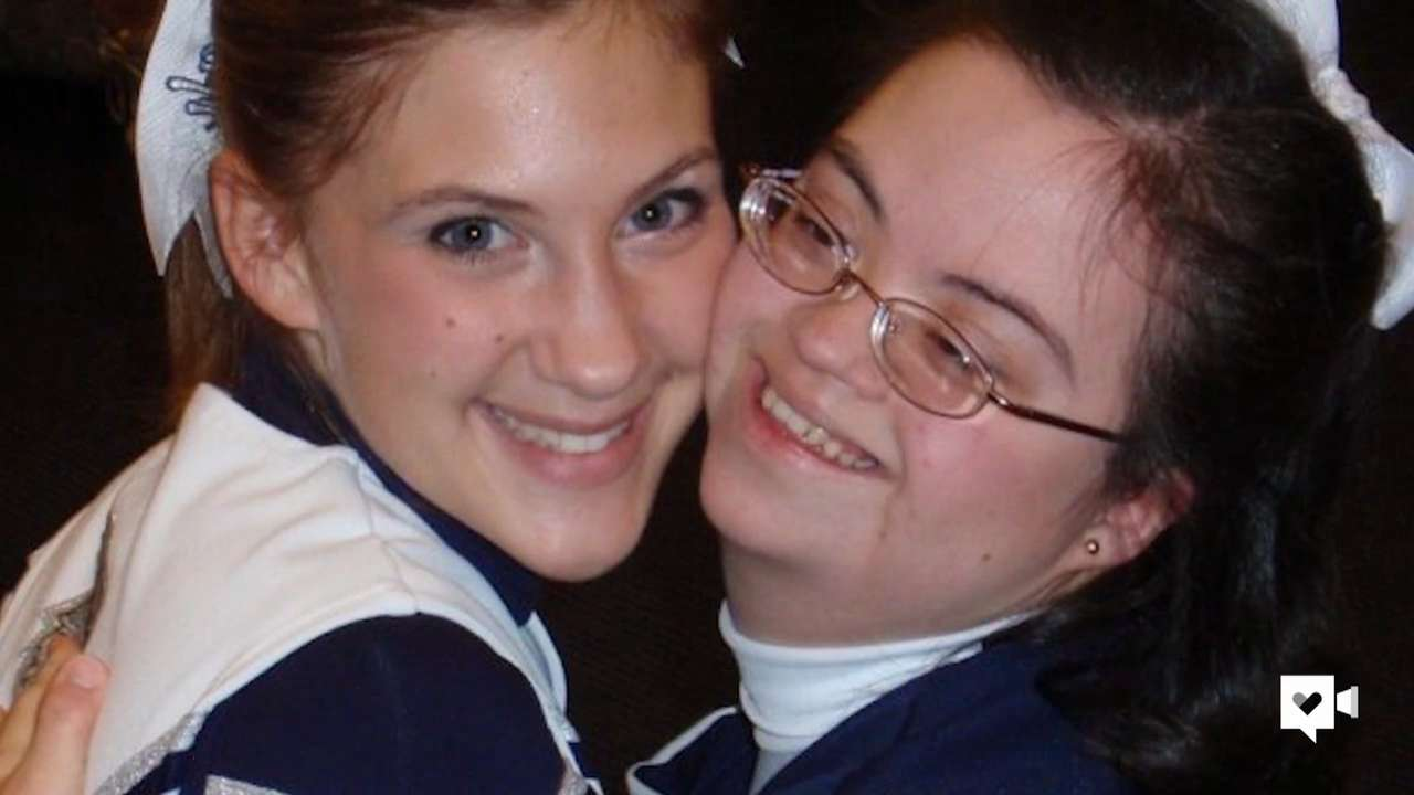 This cheer squad brings together girls of all abilities
