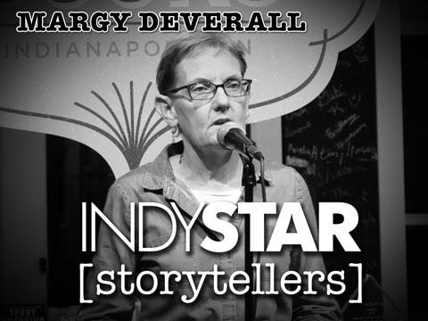 Deverall was the second storyteller at the inaugural IndyStar Storytellers event held Thursday, Feb. 11, 2016, at Indy Reads Books, 911 Massachusetts Ave., Indianapolis.