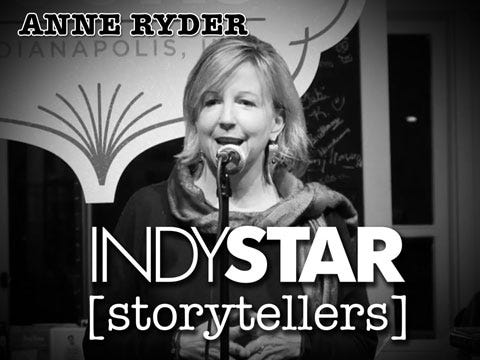 The veteran television journalist was the third storyteller at the inaugural IndyStar Storytellers event held Thursday, Feb. 11, 2016, at Indy Reads Books, 911 Massachusetts Ave., Indianapolis.