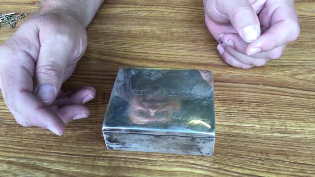 GLENN BLACK ARTIFACTS: Silver Presentation Box