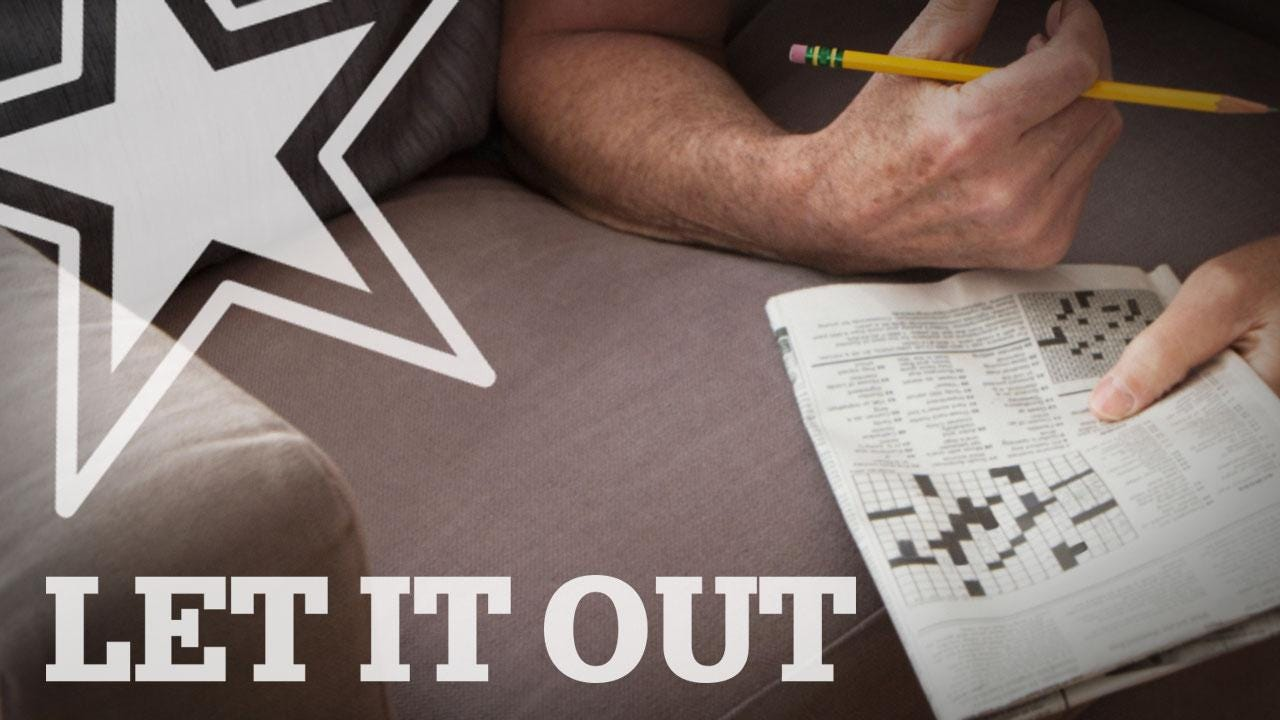 Let It Out: a Gregg Doyel cameo, 'breaking news,' depressing crosswords and more