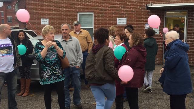 Balloon release for Aleah Beckerle