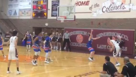 Zach Hopewell knocks a pass away with 1:17 left in Apollo's win over Henderson County on Tuesday. The steal set up the game-winning shot.