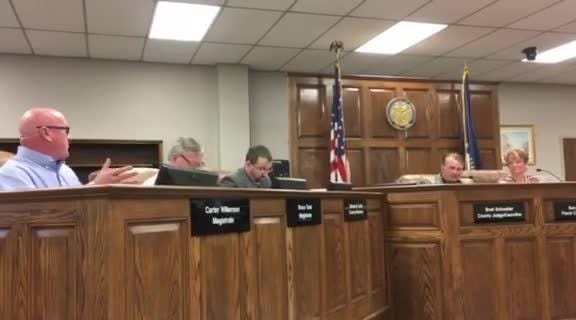 A group of volunteer firefighters walked out of Henderson Fiscal Court Tuesday morning