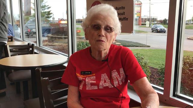 Loraine Maurer celebrates 44 years with McDonald's at 94
