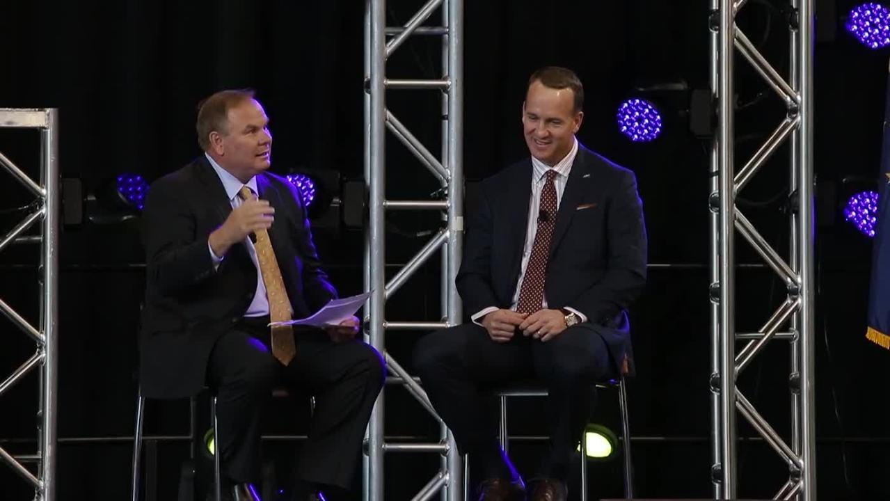 Peyton Manning Takes Quick Questions From Marian S Will Hampton