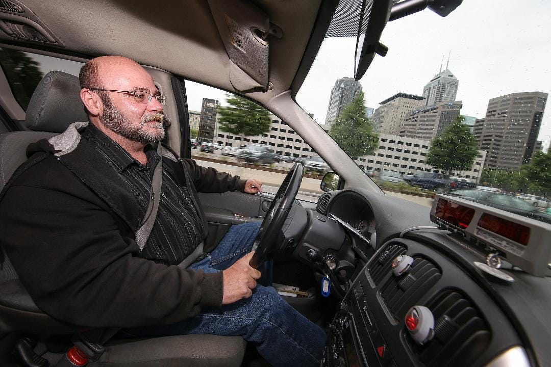 Mark Caplinger has been driving taxis for 26 years