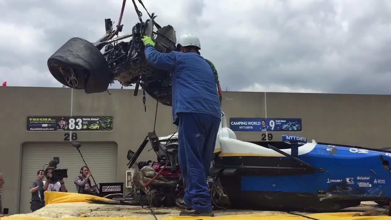 Dixon's horrific crash in 2017 Indy 500