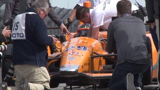 Fernando Alonso reflects on his test session Wednesday at Indianapolis Motor Speedway. The two-time Formula One champion plans to race in the Indianapolis 500 on May 28.