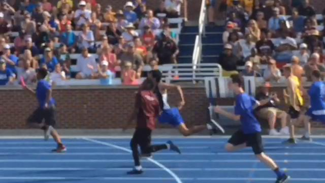 Henderson County's team of Dawan Willett and Savion Whitlock finished third in the unified 2x50 relay during the KHSAA state track and field championships.