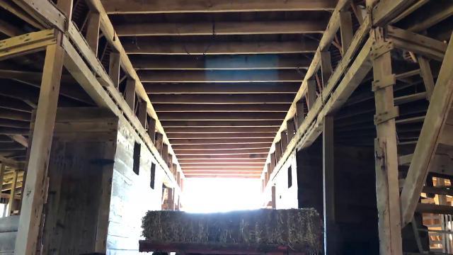 Historic round barn off Indiana 57