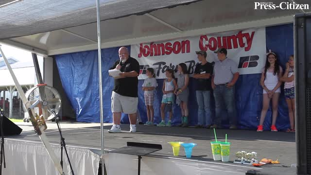 Contestants between ages 11 and 17 compete in hog calling.