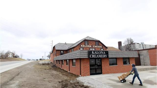 Two years after the Kalona Cheese Factory closed, the Kalona Creamery has opened in the factory's former facility.