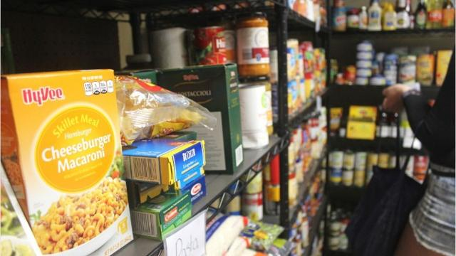 The new pantries at Tate High, City High and the University of Iowa come at a time when the area's food banks have seen slightly more visitors.