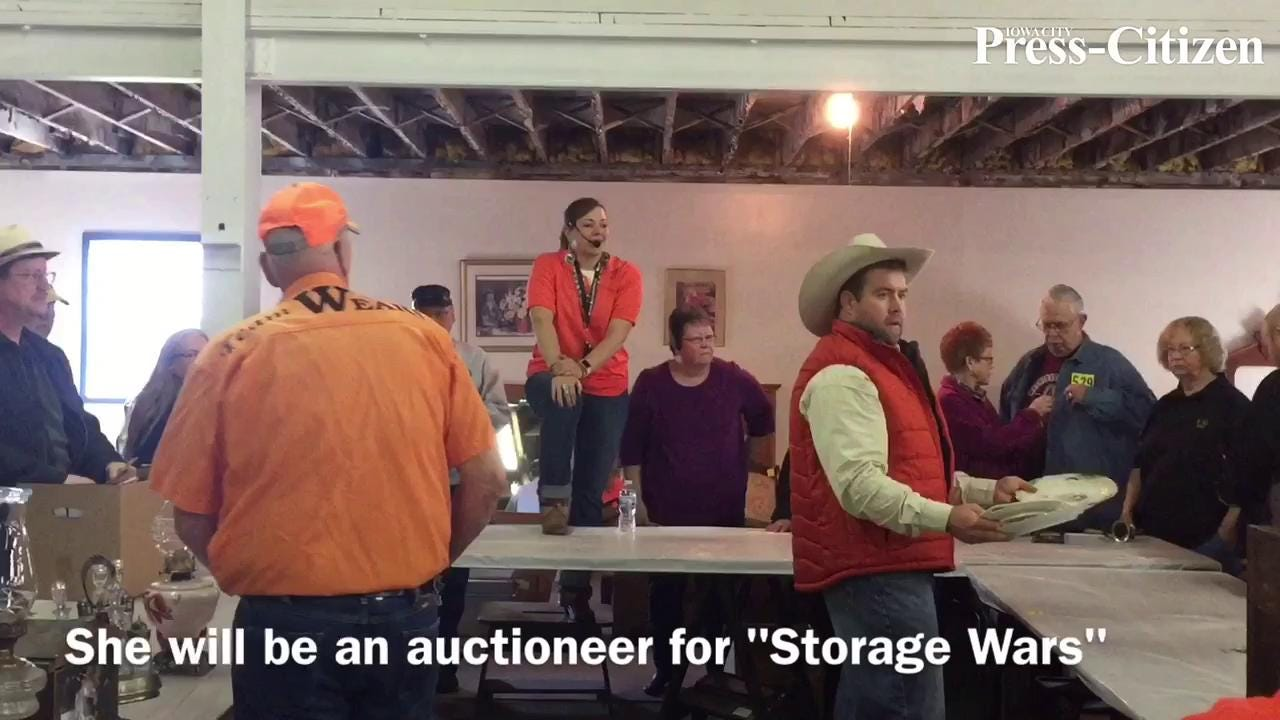 Emily Wears of Solon is a professional auctioneer and she's taking her talents to television.