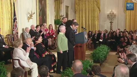 Obama awards freedom medal to Miss. Burning trio