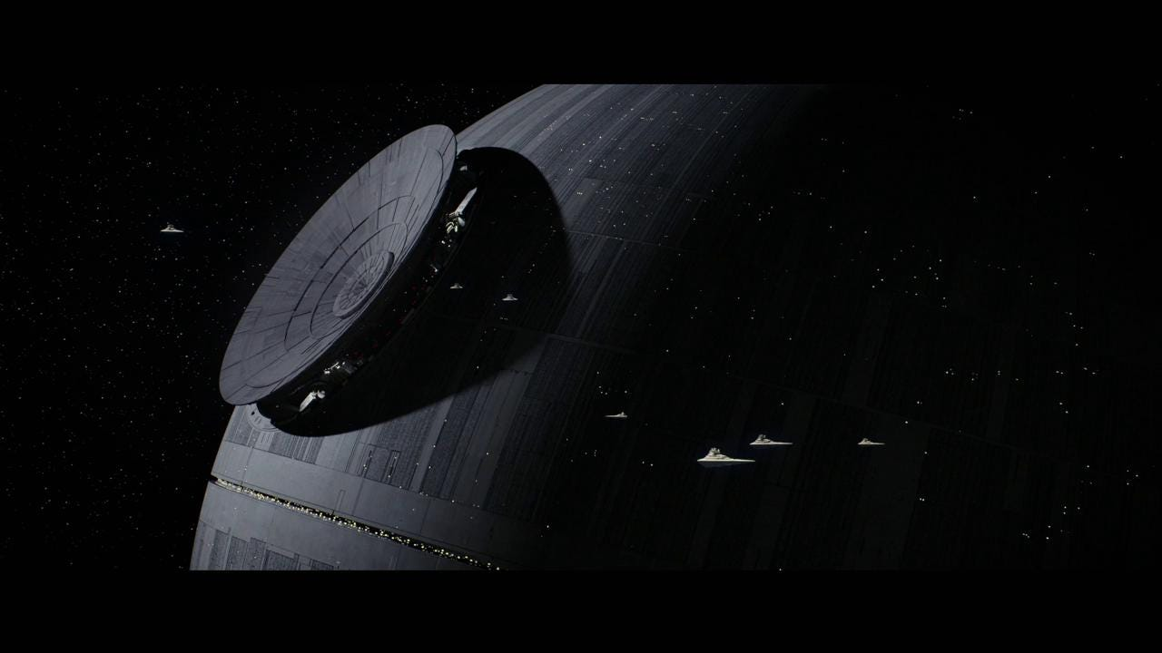 """Rogue One"", which takes place before the events of ""Star Wars: A New Hope"", tells the story of unlikely heroes who have united to steal plans to the dreaded Death Star."