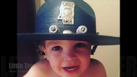 Kannon wants to be just like his daddy, Mississippi Highway Patrol Trooper Adam DeDeaux.